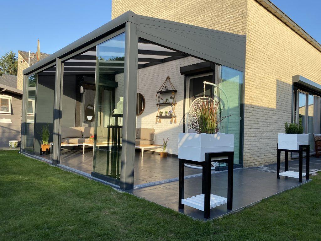 Veranda's, Terrasoverkappingen, glazen schuifwanden en carports